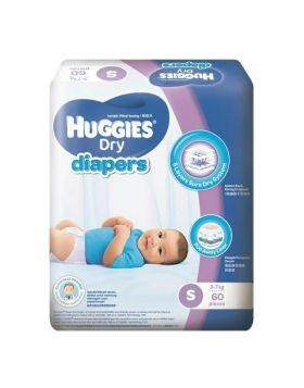 Huggies (Malaysia) Baby Dry Belt Diaper: 4-8 Kg (S) / 60 pcs