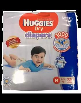 Huggies (Malaysia) Baby Dry Belt Diaper: 6-11 Kg (M) / 72 pcs