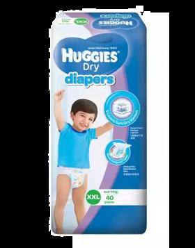 Huggies (Malaysia) Dry Pants Baby Diaper: 14+ Kg / 40 pcs