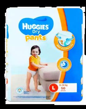 Huggies (Malaysia) Dry Pants Baby Diaper: 9-14 Kg / 50 pcs