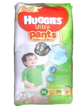 Huggies (Malaysia) Gold Ultra Pants Boys & Girls Diaper: 12-17 Kg / 38 pcs