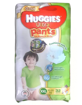 Huggies (Malaysia) Gold Ultra Pants Boys & Girls Diaper: 15-25 Kg / 32 pcs