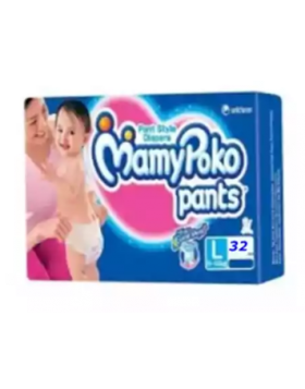 MamyPoko (India) Pants Diaper Pant 9-14 kg (L)/32 pcs