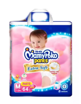 MamyPoko Girls  (Thailand) Pants Diaper Pant 7-12 kg (M)/64 pcs