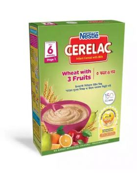 Nestlé Cerelac 1 Wheat With 3 Fruits (6 months +) BIB - 400 gm