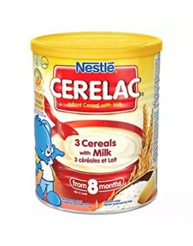 Nestlé Cerelac 3 Cereals With Milk (8 Months +) Tin - 400 gm