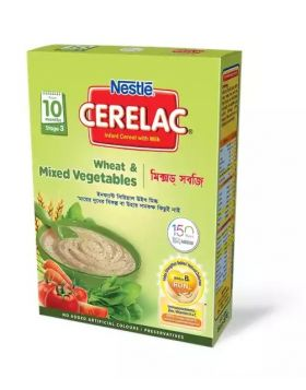 Nestlé Cerelac 3 Wheat & Mixed Vegetables (10 months+) BIB -400 gm