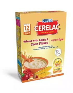 Nestlé Cerelac 4 Wheat & Apple Corn Flakes (12 months +) BIB - 400 gm