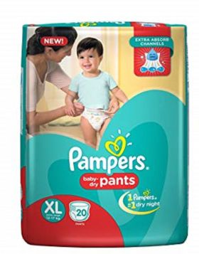 Pampers (India) Baby Dry Pants Diaper: 12-17 Kg / 20 pcs