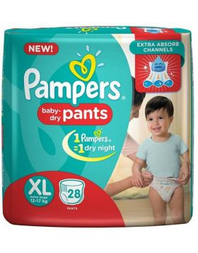 Pampers (India) Baby Dry Pants Diaper: 12-17 Kg / 28 pcs