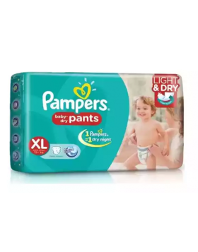 Pampers (India) Baby Dry Pants Diaper: 12-17 Kg (XL) / 38 pcs