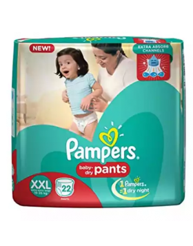 Pampers (India) Baby Dry Pants Diaper: 15-25 Kg / 22 pcs