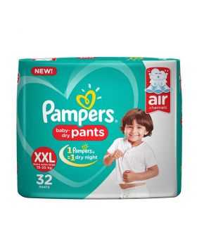 Pampers (India) Baby Dry Pants Diaper: 15-25 Kg (XXL) / 32 pcs