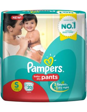 Pampers (India) Baby Dry Pants Diaper: 4-8 Kg / 20 pcs
