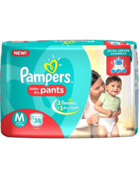 Pampers (India) Baby Dry Pants Diaper: 7-12 Kg / 38 pcs