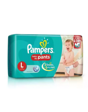 Pampers (India) Baby Dry Pants Diaper: 9-14 Kg (L) / 46 pcs