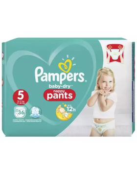 Pampers (UK) Baby Dry Pants Diaper: 12-17 Kg / 36 pcs