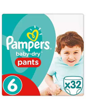 Pampers (UK) Baby Dry Pants Diaper: 15+ Kg / 32 pcs