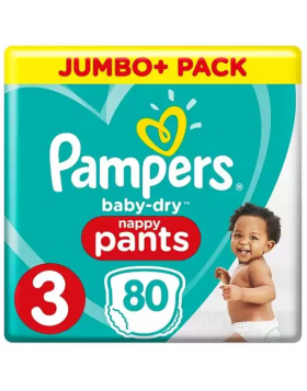 Pampers (UK) Baby Dry Pants Diaper: 6-11 Kg / 80 pcs