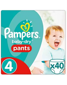 Pampers (UK) Baby Dry Pants Diaper: 9-15 Kg / 40 pcs