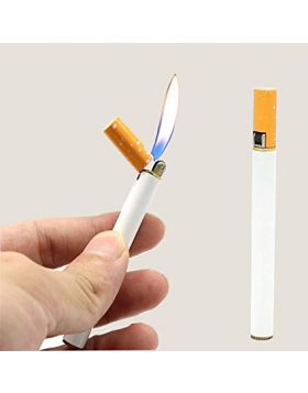 Refillable Butane Gas Flint Cigarette Shaped Lighter