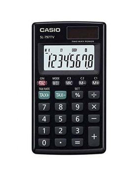Casio SL-797TV-BK Portable Calculator With 8-Digit