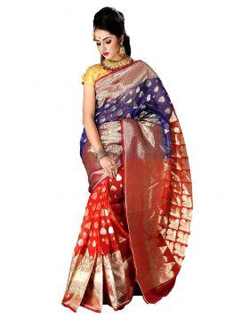 Half Silk Sari || TCB376