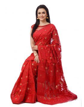 Tangail Silk Jamdani Sari || THP673