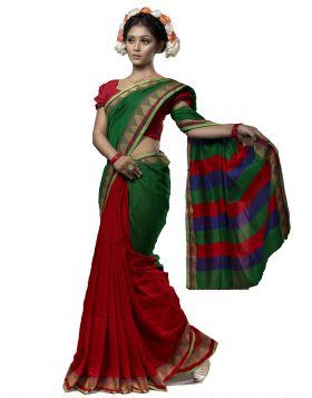 টাঙ্গাইল হাফ সিল্ক শাড়ি ।। TMT1021
