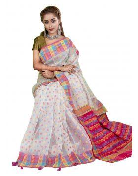 Silk Jamdani Sari|| TMT1190