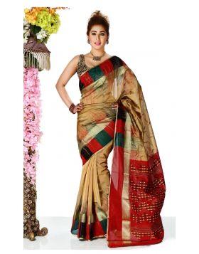 Jute Silk Sari || TSD253