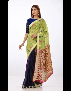 Jute Silk Sari || TSD373