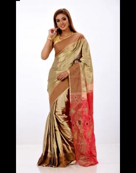 Rajshahi Silk Sari || TSD379