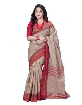Khadi Cotton Sari    TSR737
